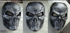 Punisher Mask 1:1 Battle Damgd by Uratz-Studios