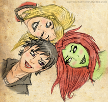 Gotham Sirens Speed doodle by Gothicraft