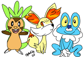 Pokemon X and Y Starters by LizDraws