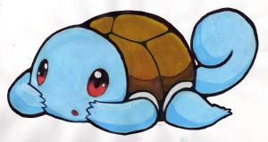Traditional Shy Squirtle - Art Trade by ezeqquiel