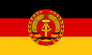 Flag of the East German People's Army by ShitAllOverHumanity