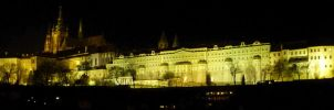 Prague - The castle at night by someoneabletofindana