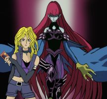 Mai and her Cyber Harpie lady by the-pharaoh-Atemu