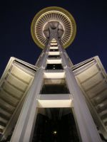 Space Needle at Night by merribelle