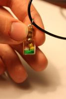 Pikachu Bottle Pendant by thousandleaf0001