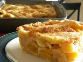 Peach pie by bloominglove