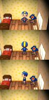 Animal Crossing New Leaf (MegaMan.EXE Shirt + Hat) by Zero6694
