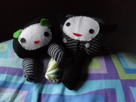 Two Lil Monsta Plushies by Squee-Z