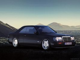 Mercedes benz W124 Scenery by sergoc58
