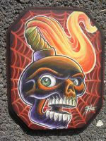 painting on wood by blksun