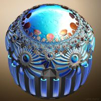 T21 HyperbolicTessellation Sphere 327 by GraphicLia