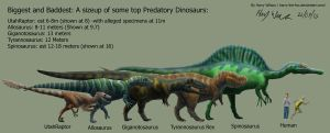 Predatory Dinosaur Size Chart by Harry-the-Fox