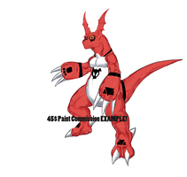 Guilmon  45$ Color Commission example by exuitirteiss