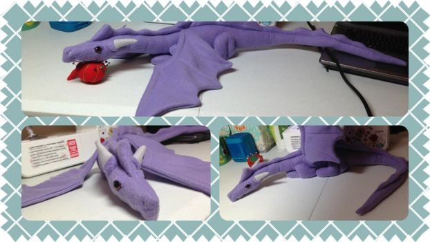 Purple plush dragon by LostyNoNam3