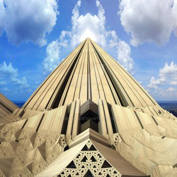 Pyramid of the Daylight by Dr-Pen