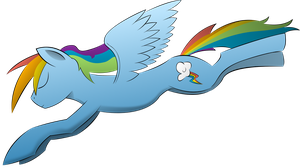 Rainbow Dash Vector by racer437