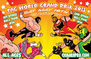 Chikara Pro World Tag 2013 by Tom Kelly by TomKellyART