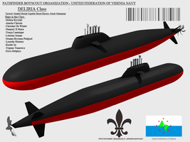 Deliria Class Conventional Attack Submarine by Stealthflanker