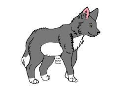 Wolf Cub colored by BBallGirl2009