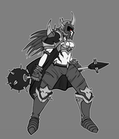 Female Mordekaiser - Conceptart by Cless-Aurion