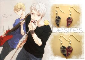 APH - Prussia x England - Half Heart Earrings by Undisclose--Desires
