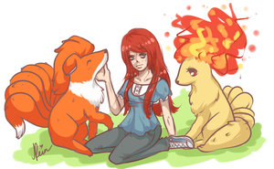 PF com : Stacie and her foxes by Reintastic