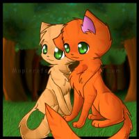 Firestar and Sandstorm by MaplerofSyrup