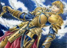 Gilgamesh, from Fate/Stay Night. by pukipuki25