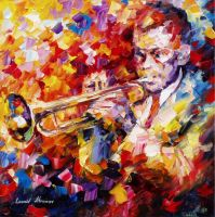 GROOVE OF FEELINGS by Leonid Afremov by Leonidafremov