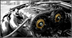 Honda CRX Turbo engine by Kverna