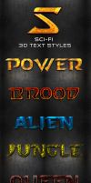 Sci-Fi 3D Text Styles by ArtoriusGothicus