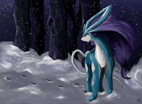 Suicune by BloodyButterfly-wp