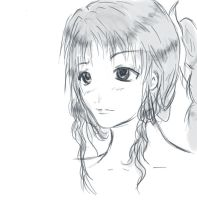 Aerith sketch by OoLouoO