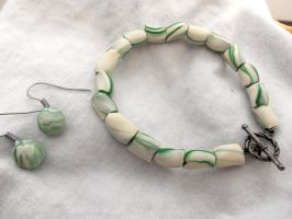 Mint Bracelet by Mad-But-Happy