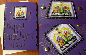 Cross-Stitch Window Mothers Day Card 2013 by spektijim