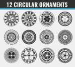 12 Free Circular Ornaments (PNG) by the-searching-one