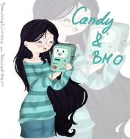 Candy and BMO by Drawing-Heart