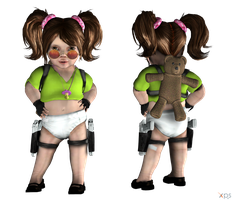 Baby Croft WIP 95% by ZayrCroft