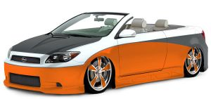 Scion TC custom convertible by baggedtoy93