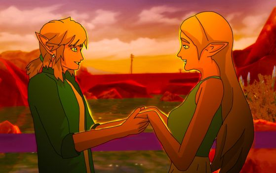 Link and Zelda by NarutoTheSims
