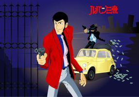 Lupin III by broom-rider