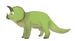 Triceratops by AnamayCat