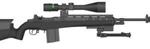 M14 Tacital Light Sniper rifle by Geke-sulen
