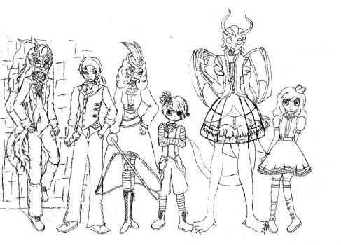 All my Ever After high OC's. by VictorianMycomancer