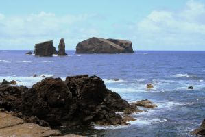 rocks at the sea - azores by neeuq2006