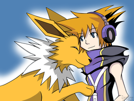 Neku + Jolteon by 2wolfan
