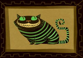 Cheshire Cat by Canvascope