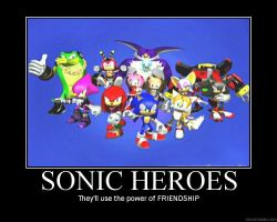 Sonic Heroes de-motivatonial by CrystalLotus98