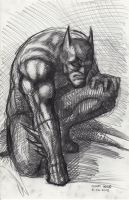 Batman Sketch 8-26-2013 by myconius