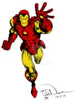 Iron Man by Todd Nauck (Colored) by TheComicBookMaster